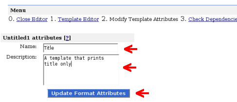 update format template attributes