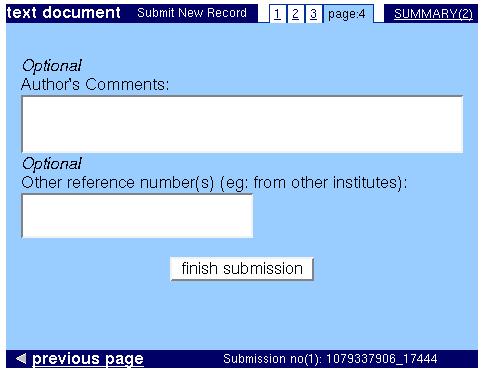 Document type End Page