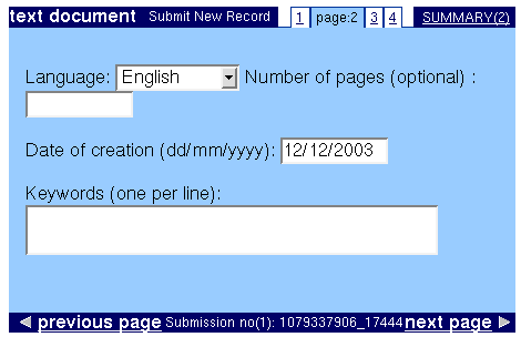 Document type Page